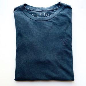 Men's American Outfitters Blue Crewneck T-shirt L